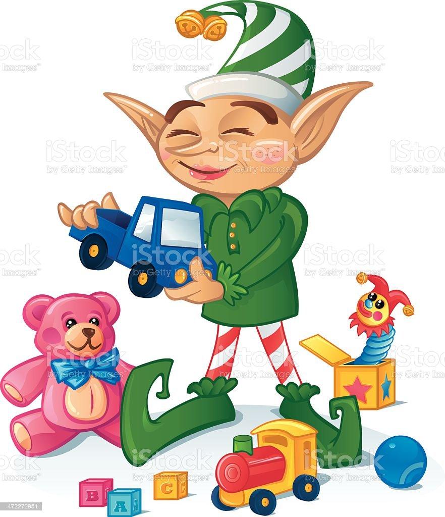 Happy Elf royalty-free stock vector art