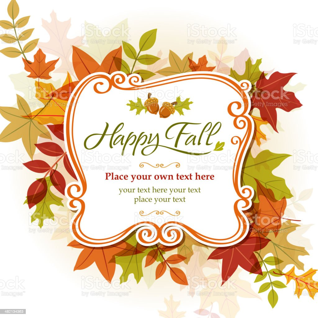 Happy Fall royalty-free stock vector art