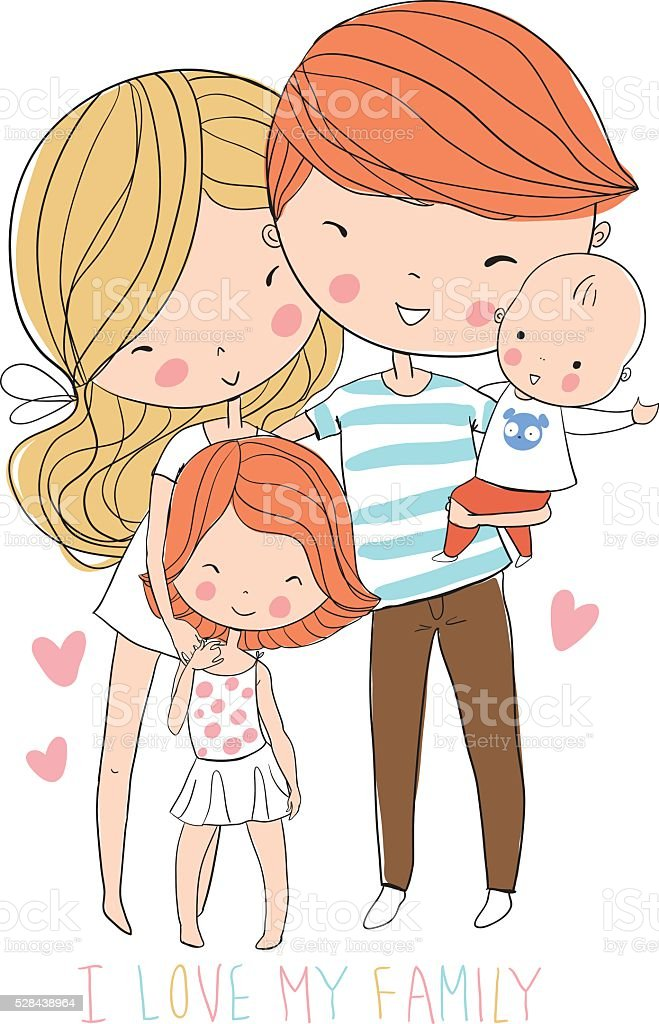 Happy family. Father, mother, baby. royalty-free stock vector art