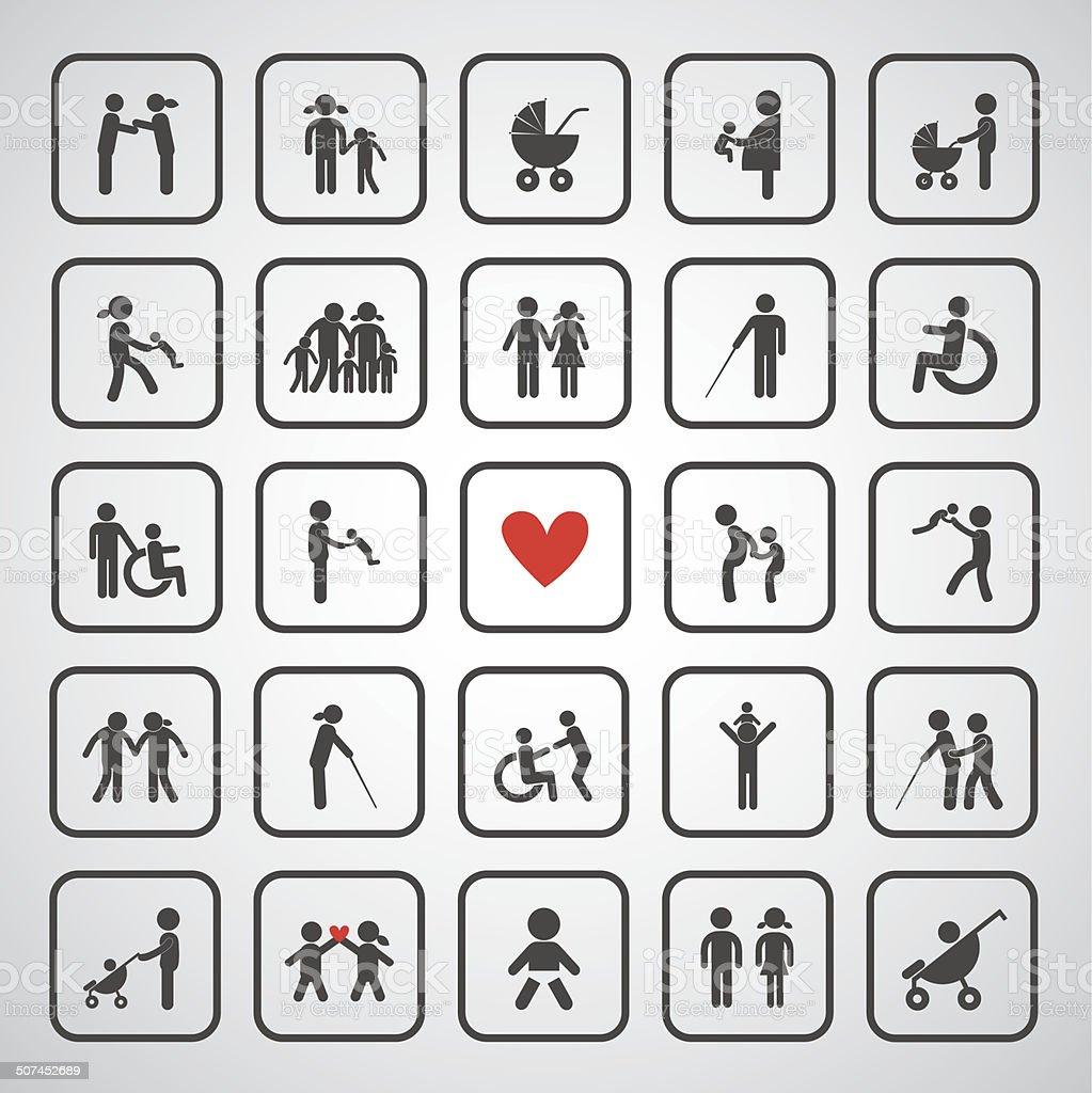 happy family icon vector art illustration