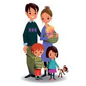 Happy Family of Five.