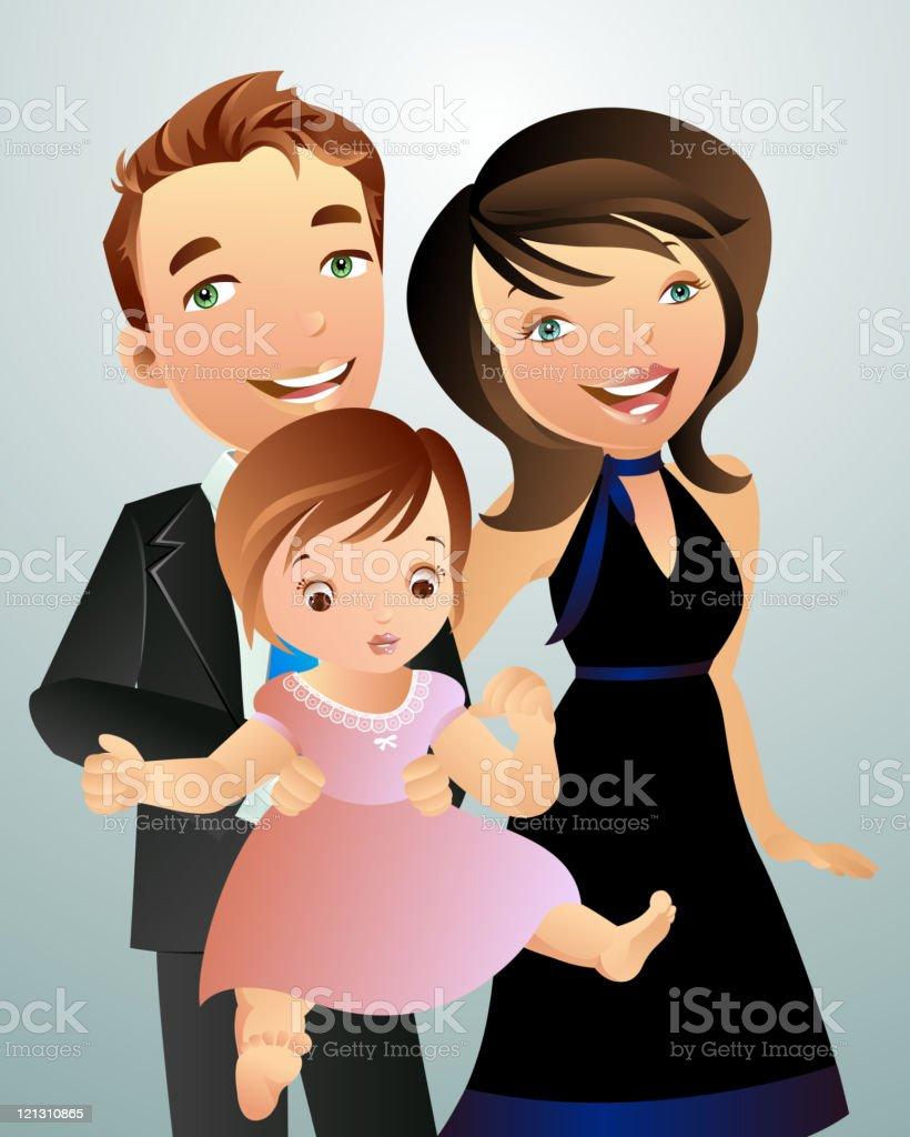 Happy Family Portrait royalty-free stock vector art