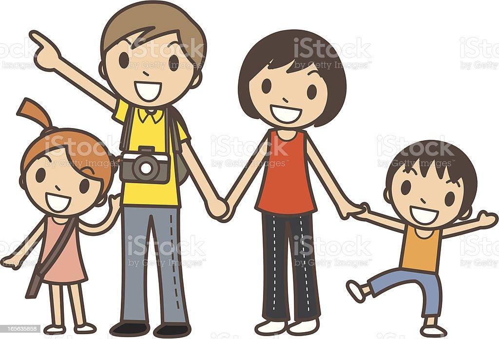 Happy Family Time vector art illustration