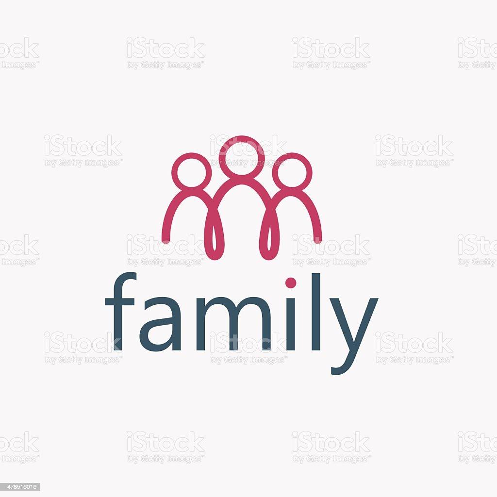 happy family vector design template vector art illustration