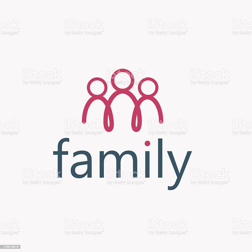happy family vector design template vector art illustration