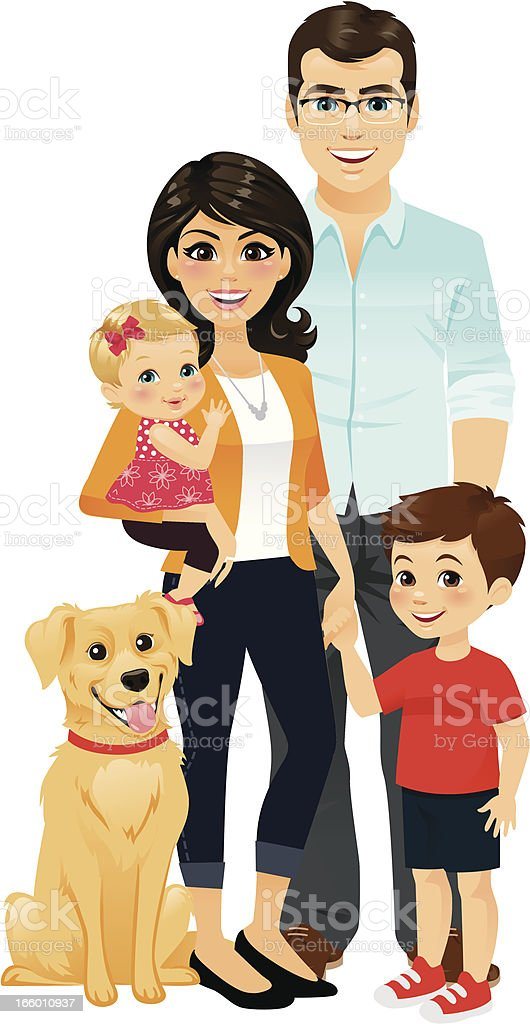 Happy Family vector art illustration