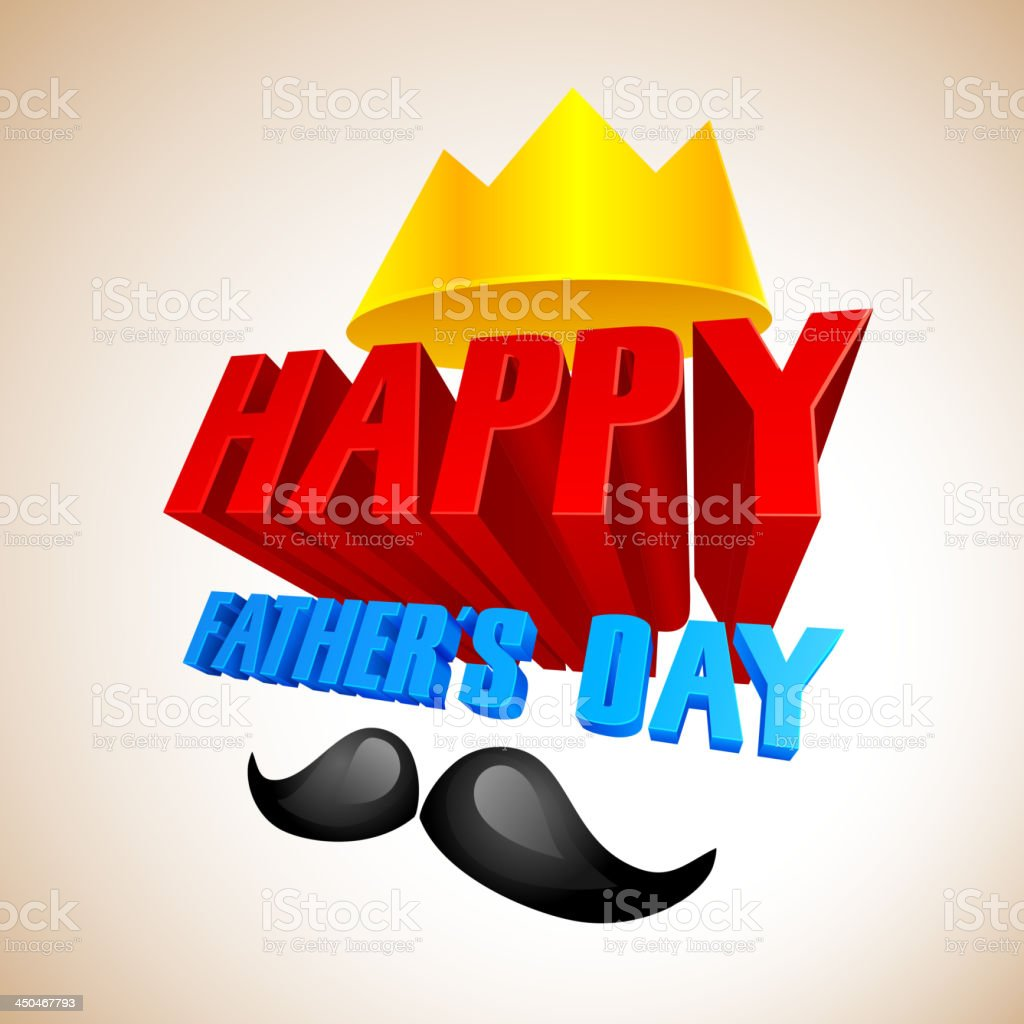 Happy Father's Day Background royalty-free stock vector art