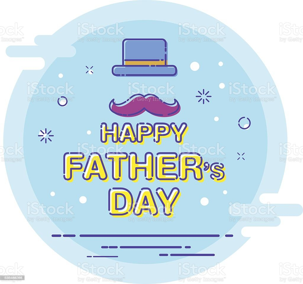 Happy father's day, Happy Father day vector art illustration