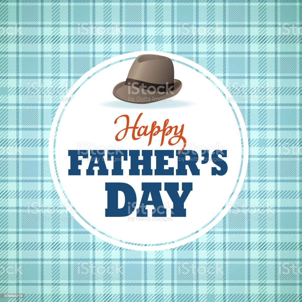 Happy Father's Day Hat vector art illustration