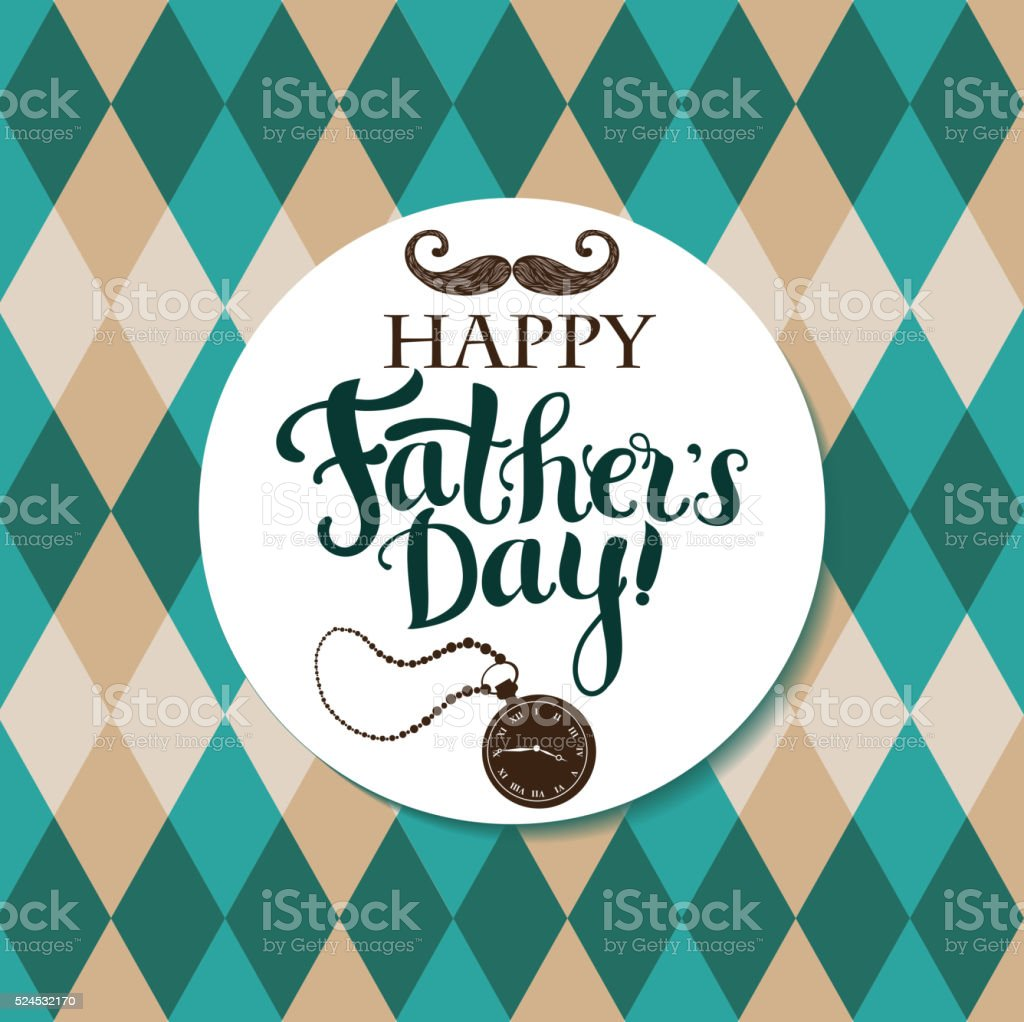 Happy Father`s day vector art illustration