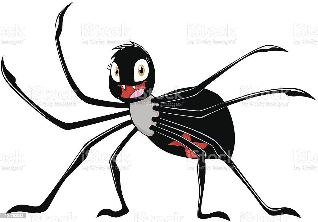 Happy Female Black Widow Spider royalty-free stock vector art