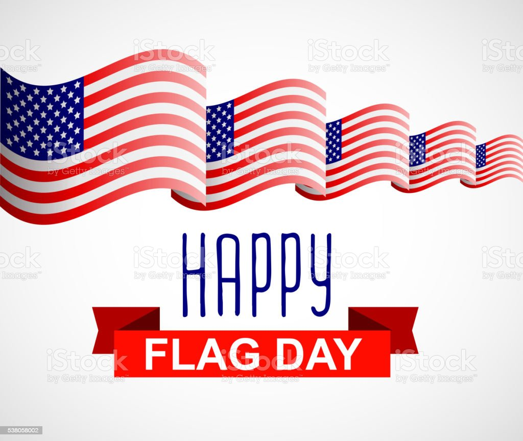 Happy Flag Day background template vector art illustration