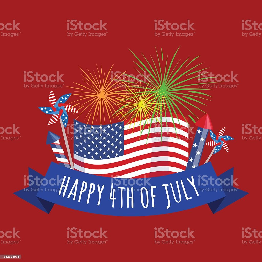 Happy fourth of july, Independence Day Vector Design illustraion vector art illustration