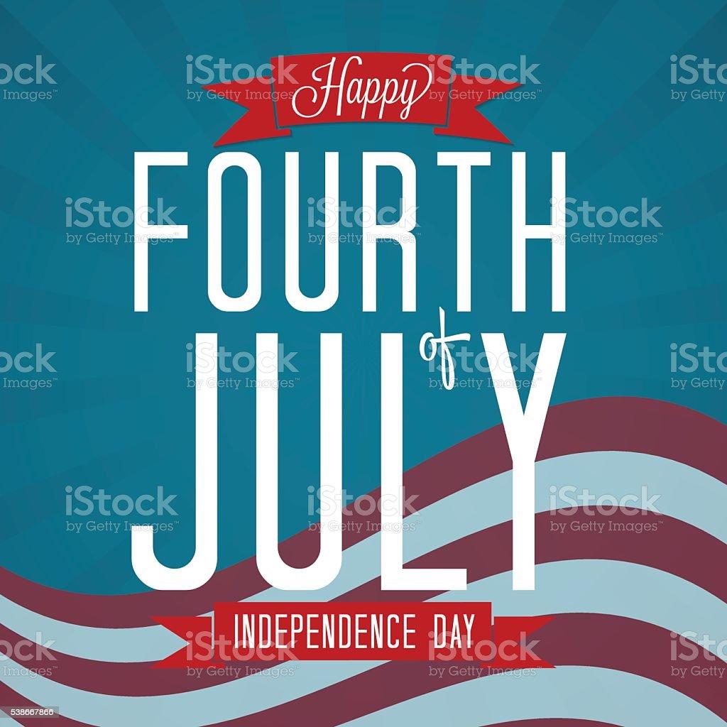 Happy Fourth of July vector art illustration