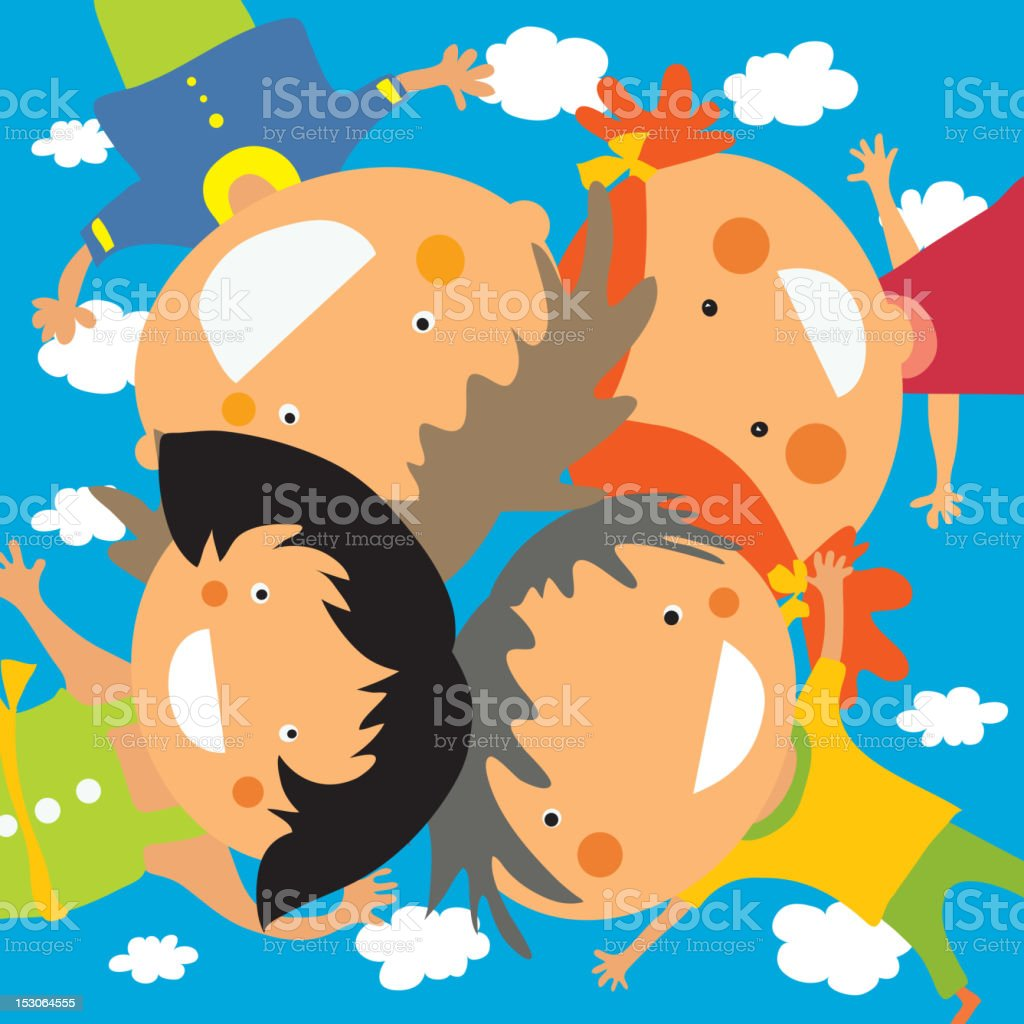 Happy frends royalty-free stock vector art