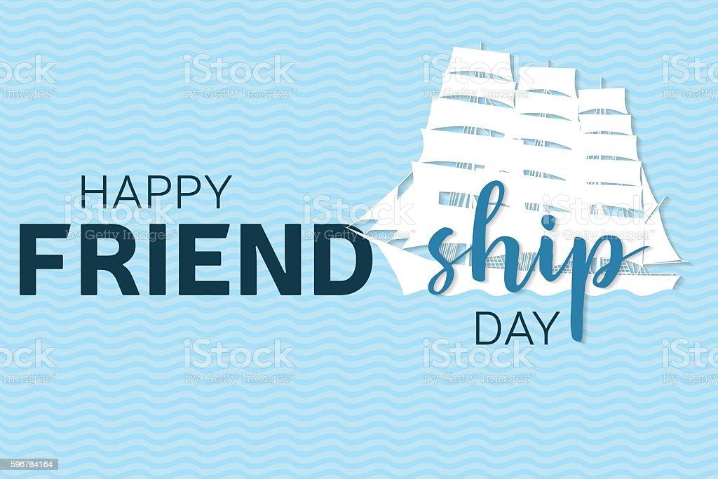 Happy Friendship day greeting card. vector art illustration