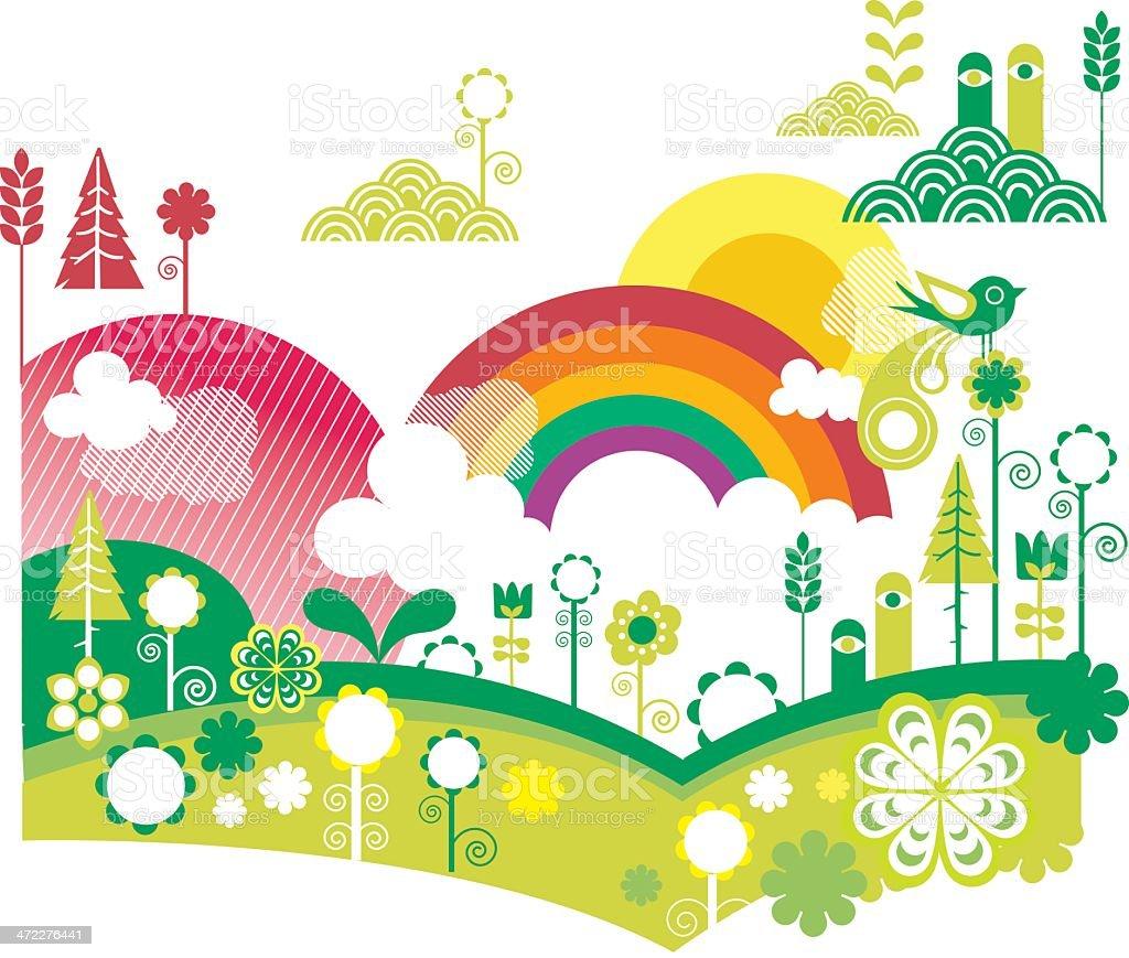 happy garden royalty-free stock vector art