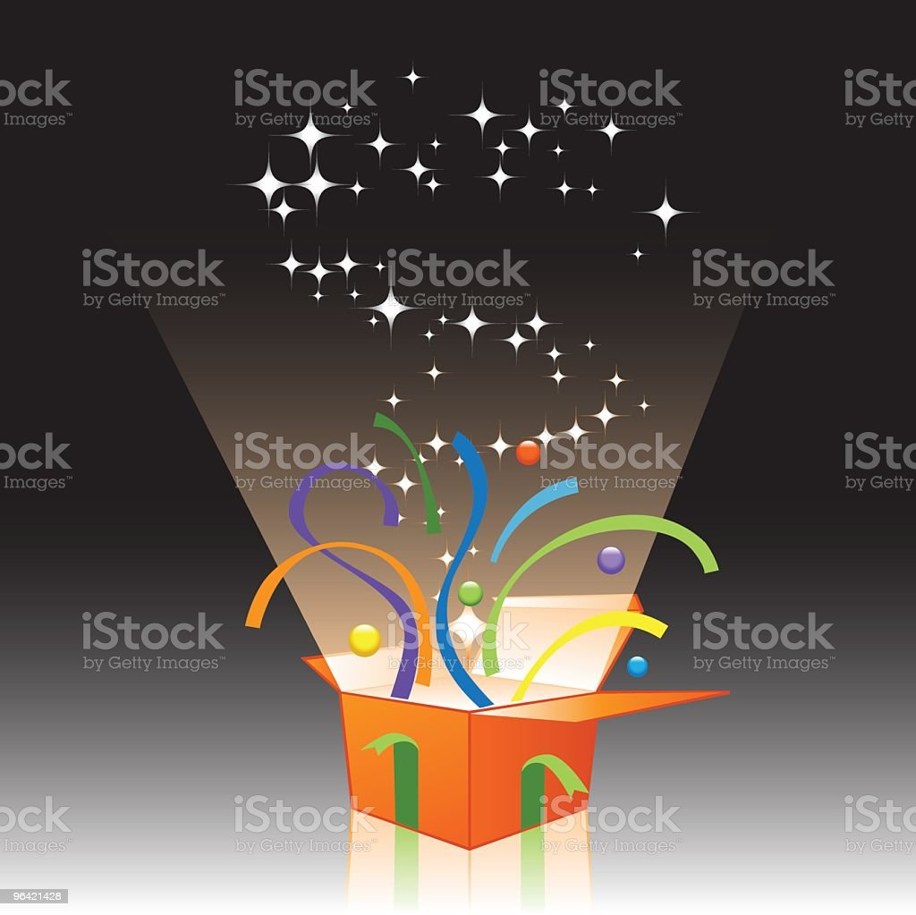 Happy Gift Surprise royalty-free stock vector art