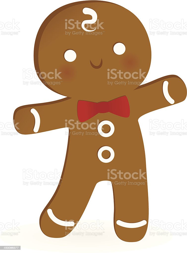 Happy Gingerbread Man vector art illustration