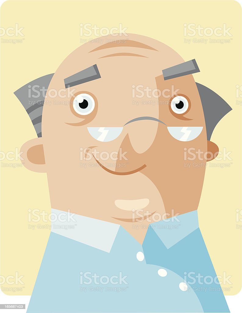 Happy Gramps vector art illustration