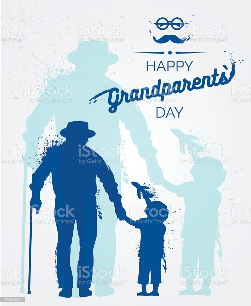Happy Grandparents Day background vector art illustration