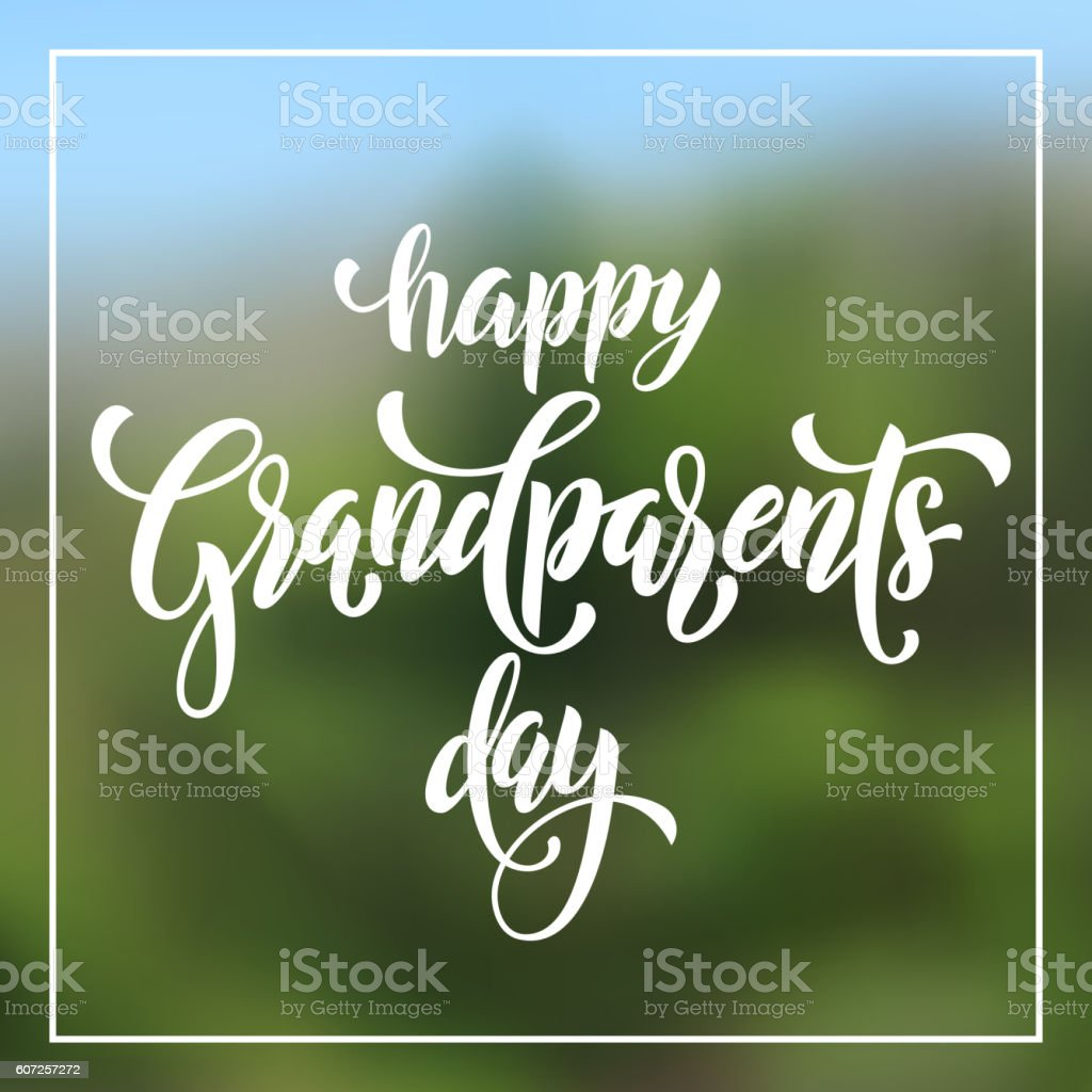 Happy Grandparents Day greeting card vector art illustration