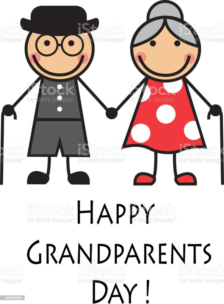 happy grandparents day vector art illustration