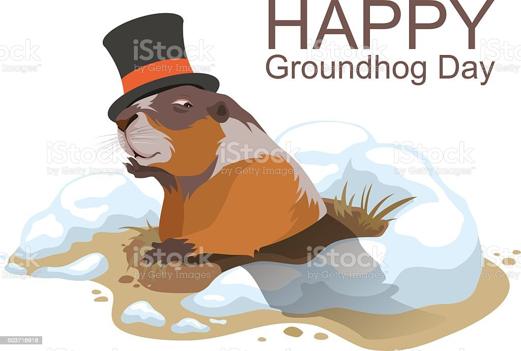 Image result for happy groundhog day clipart