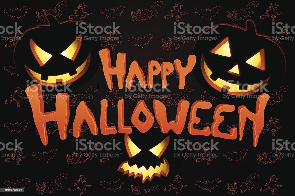 Happy Halloween background vector art illustration