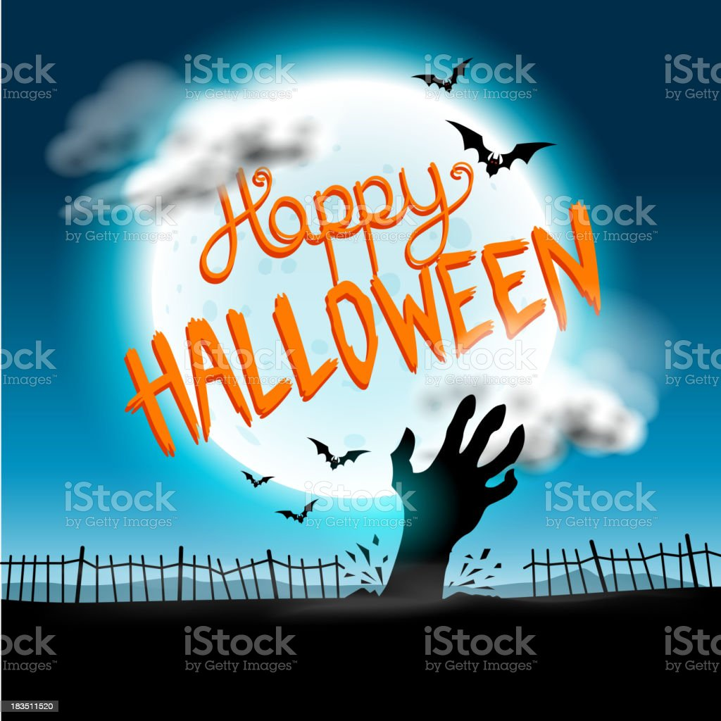 Happy Halloween Background royalty-free stock vector art
