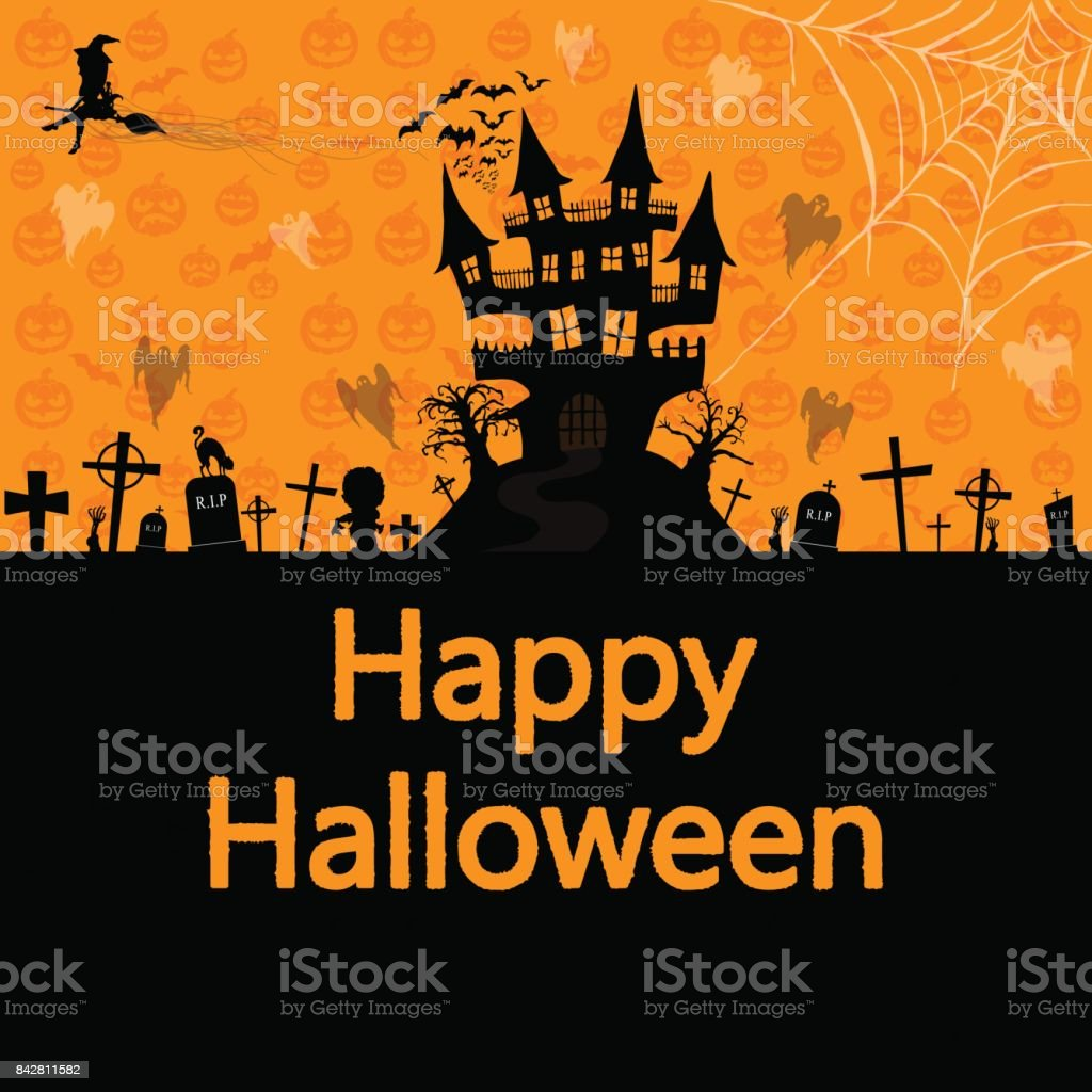 Happy Halloween background , vector illustration vector art illustration