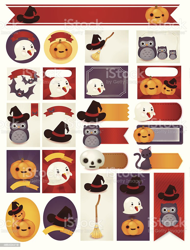 Happy Halloween Card - Vector File EPS10 royalty-free stock vector art