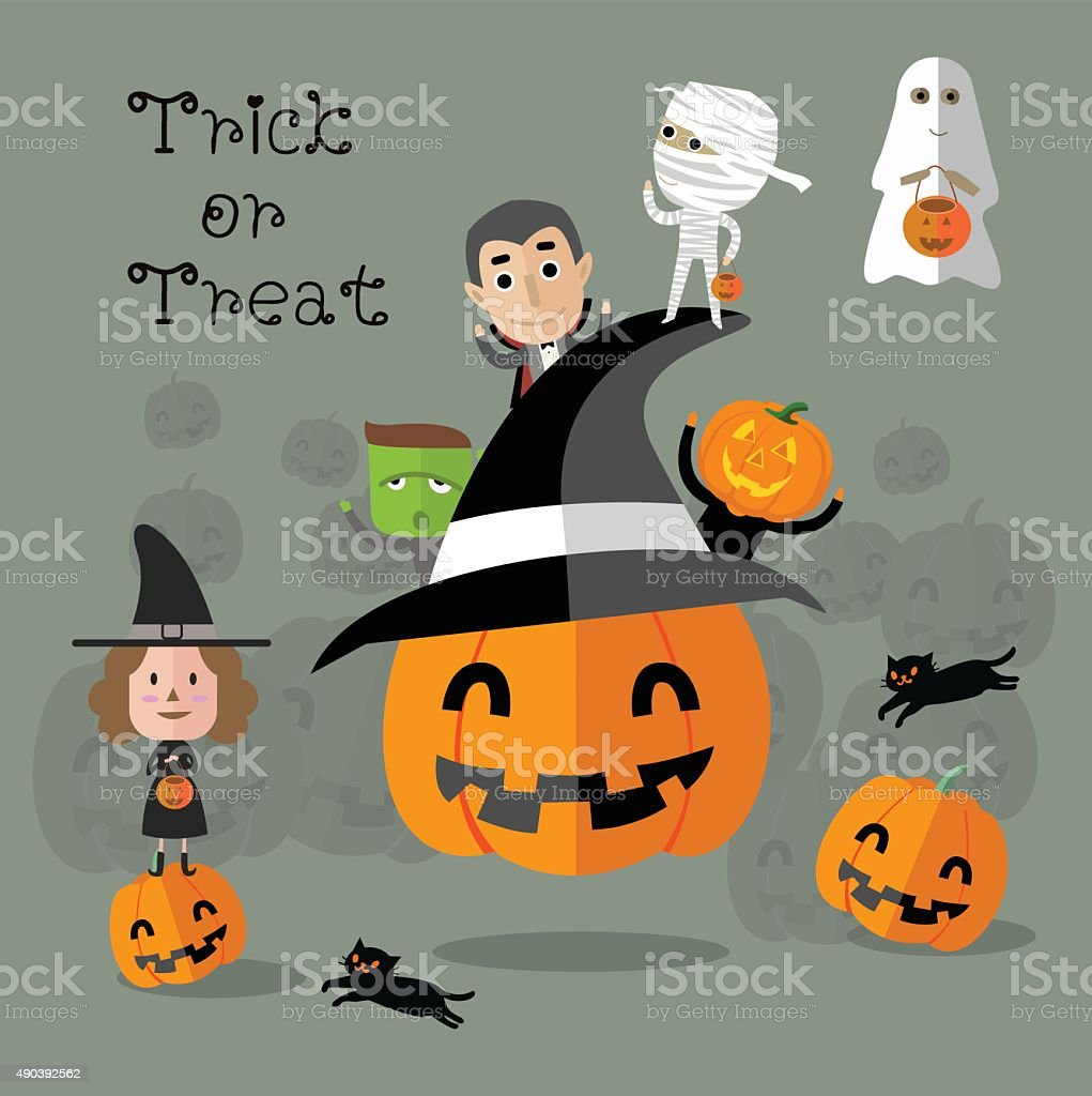 happy halloween eps10 format vector art illustration