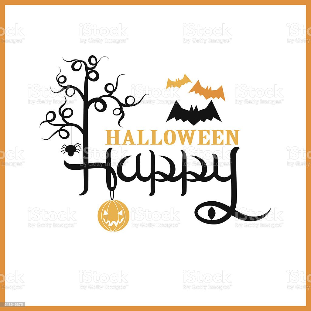 Happy Halloween Greeting Card vector art illustration