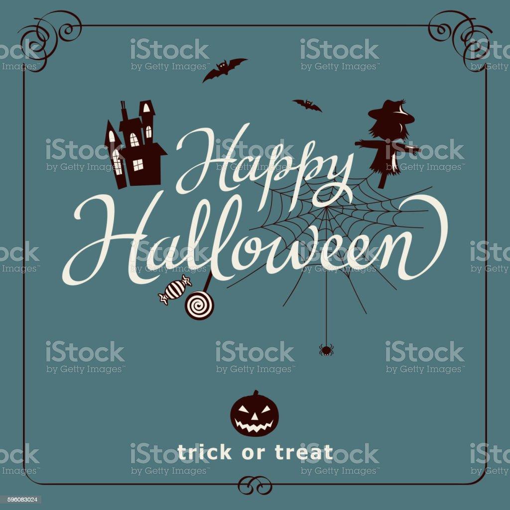 Happy Halloween Night vector art illustration