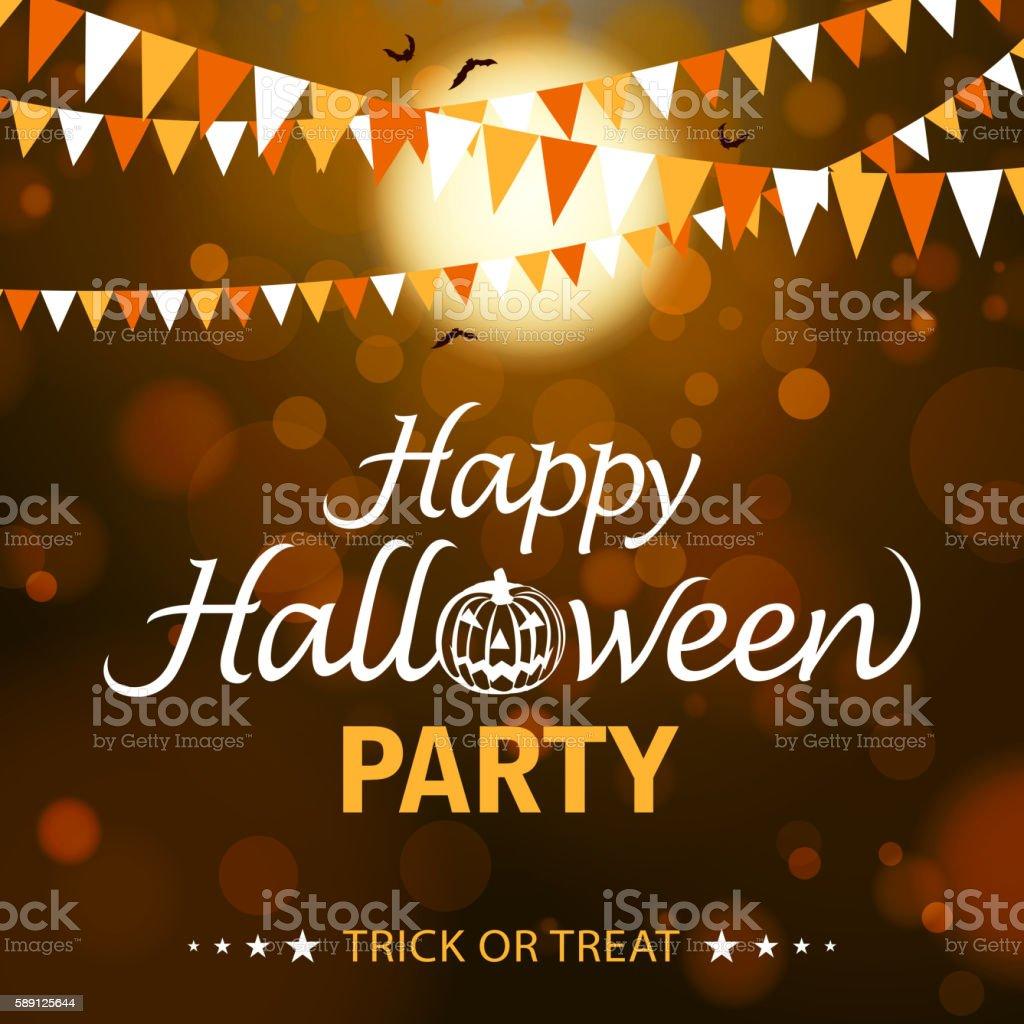 Happy Halloween Party vector art illustration
