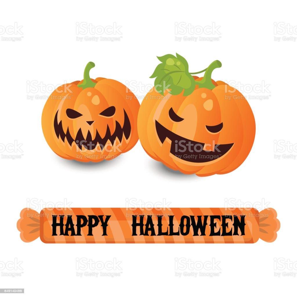 Happy Halloween poster vector art illustration