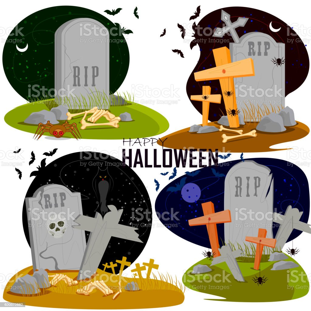 Happy Halloween scary background vector art illustration