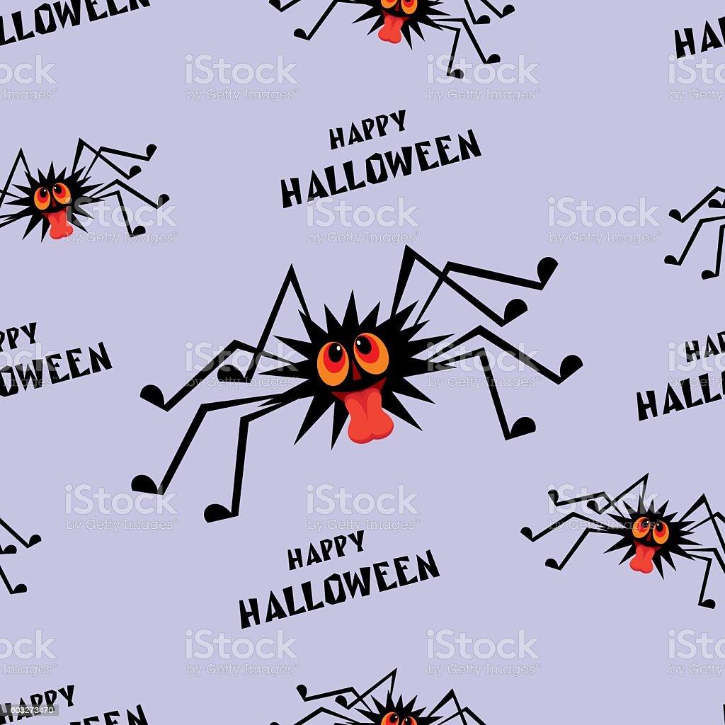 happy Halloween seamless pattern vector art illustration