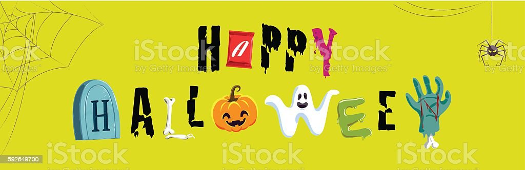 Happy Halloween Typeface, Typography,vector, Illustration vector art illustration