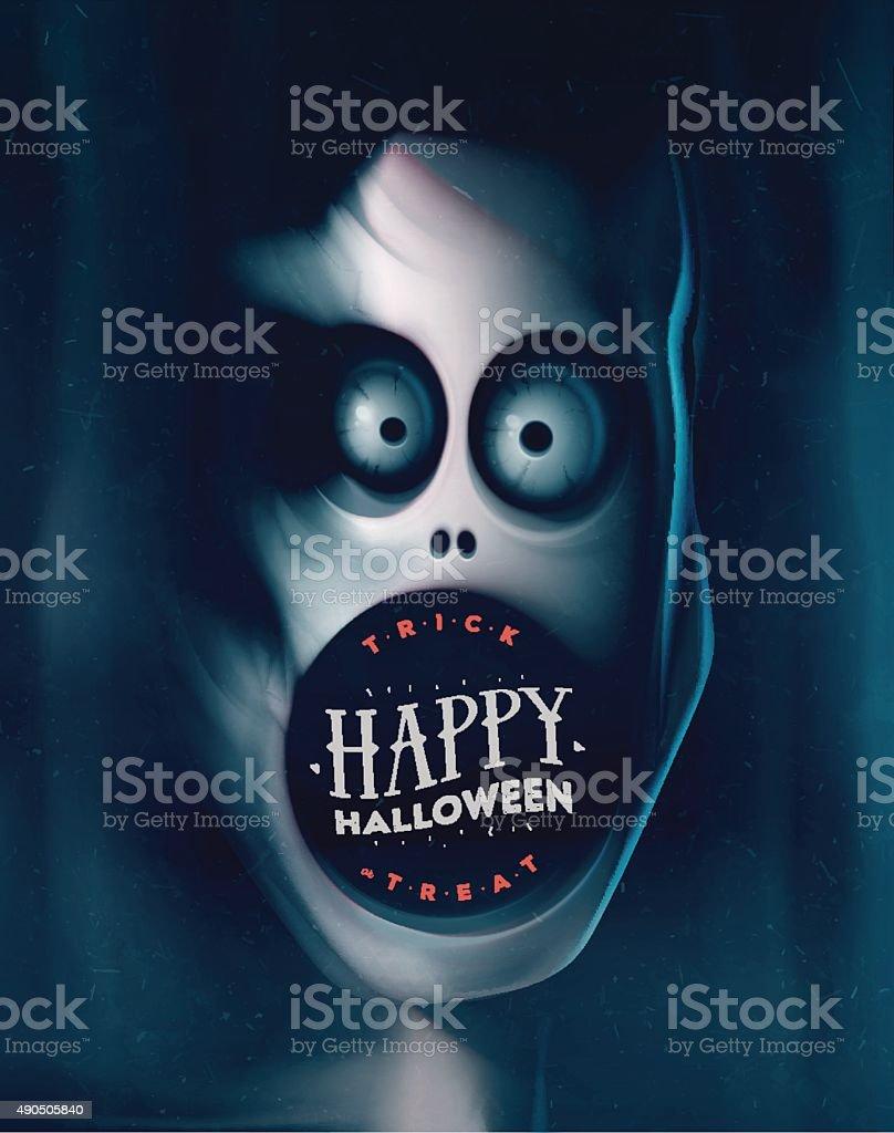 Happy Halloween vector art illustration