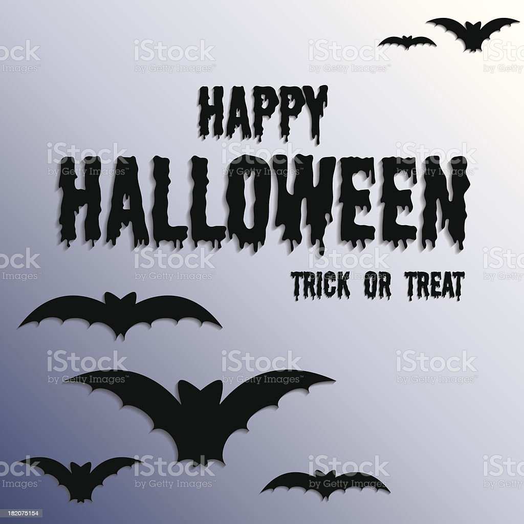 Happy Halloween - Vector Illustration royalty-free stock vector art