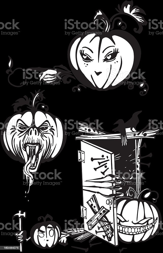 Happy Halloween - vector set. royalty-free stock vector art