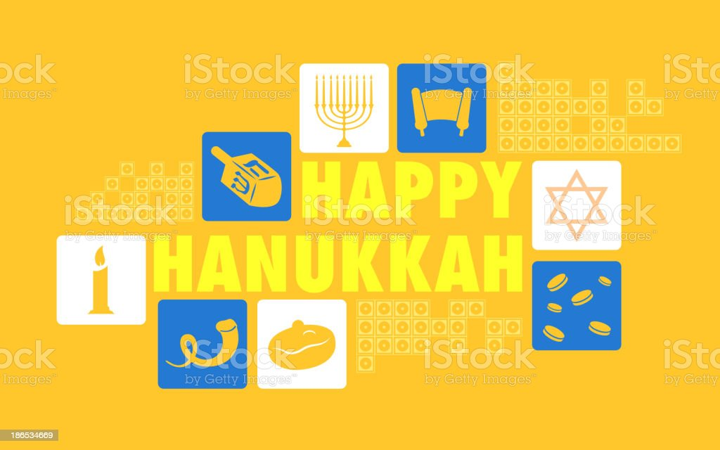Happy Hanukkah Background royalty-free stock vector art