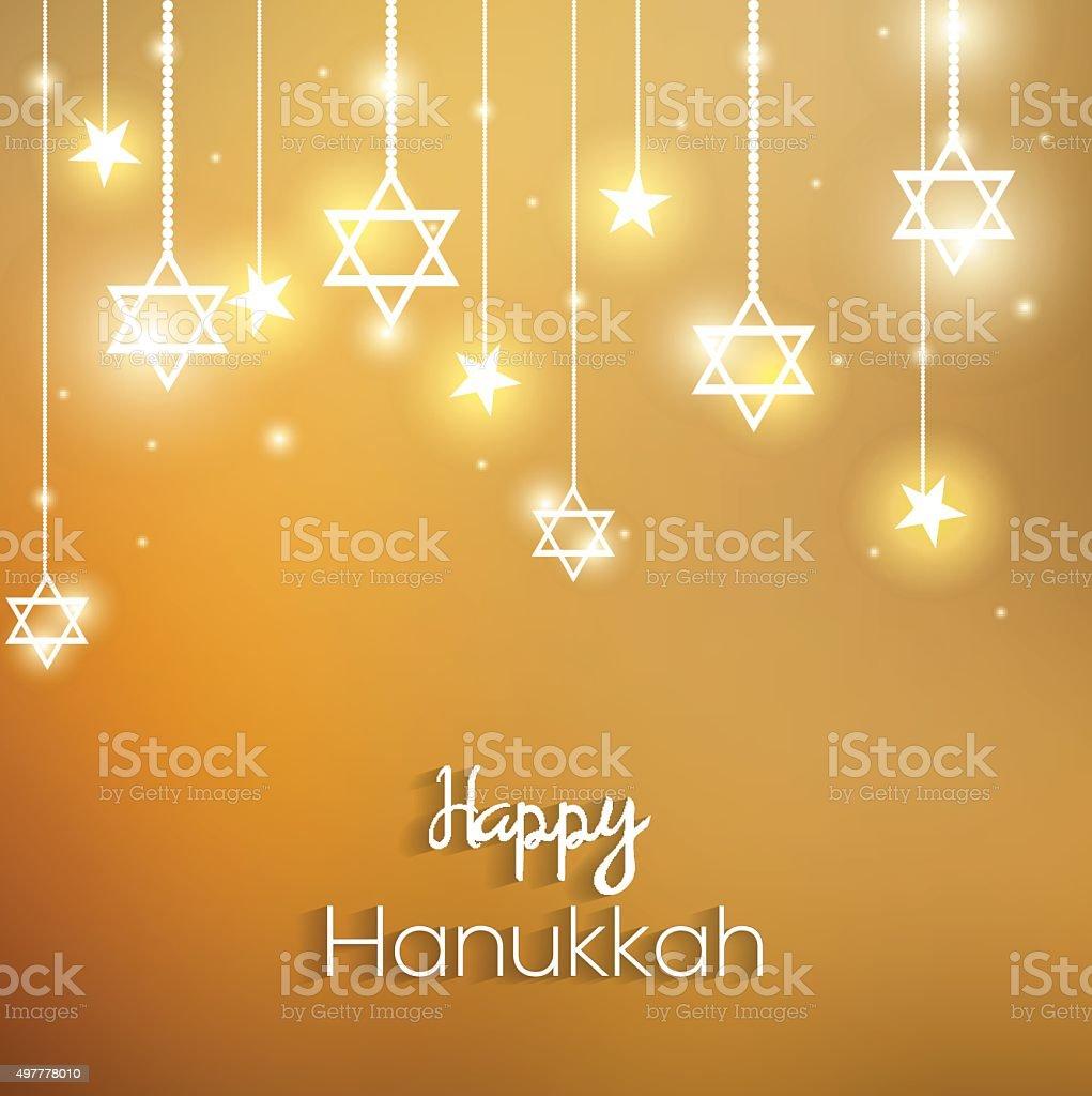 Happy Hanukkah colorful design vector art illustration