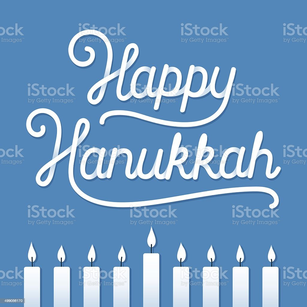 Happy Hanukkah Greeting card vector art illustration