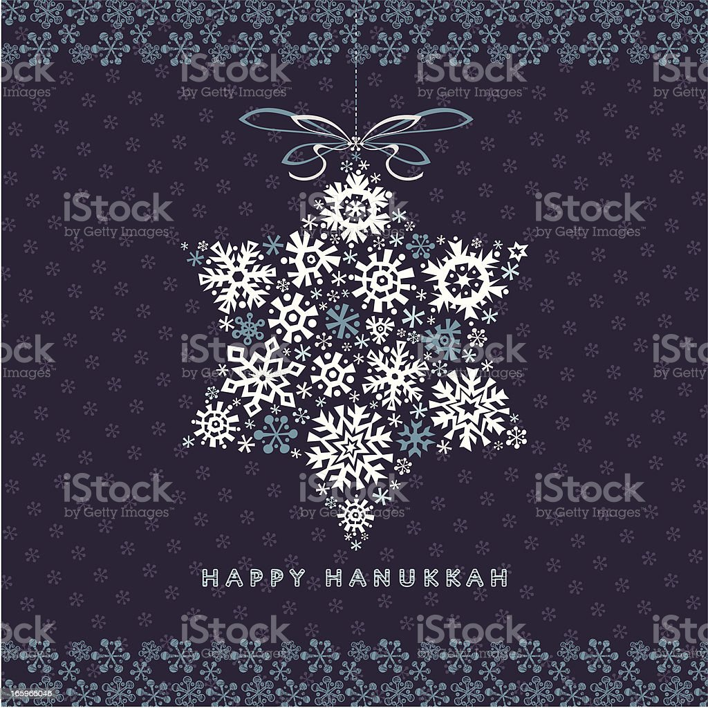 Happy Hanukkah Greetings Card vector art illustration