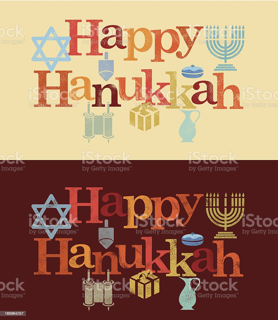 Happy Hanukkah royalty-free stock vector art