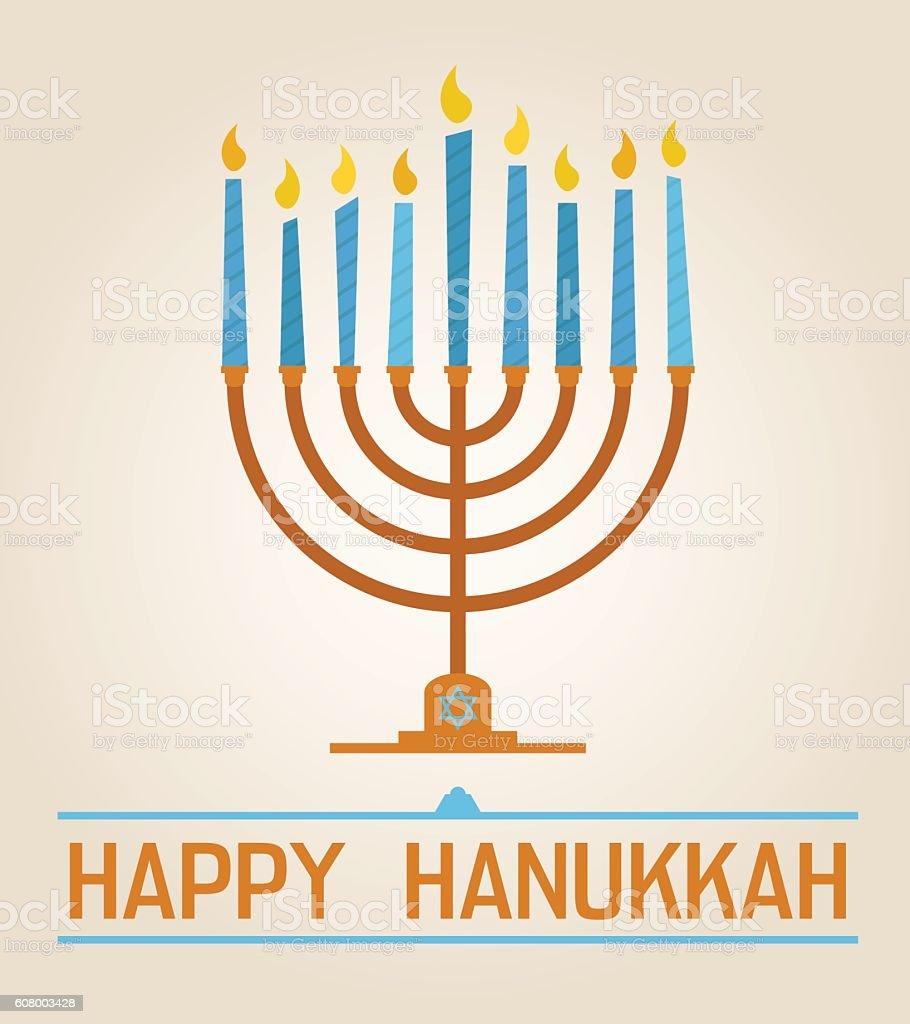 Happy Hanukkah vector art illustration