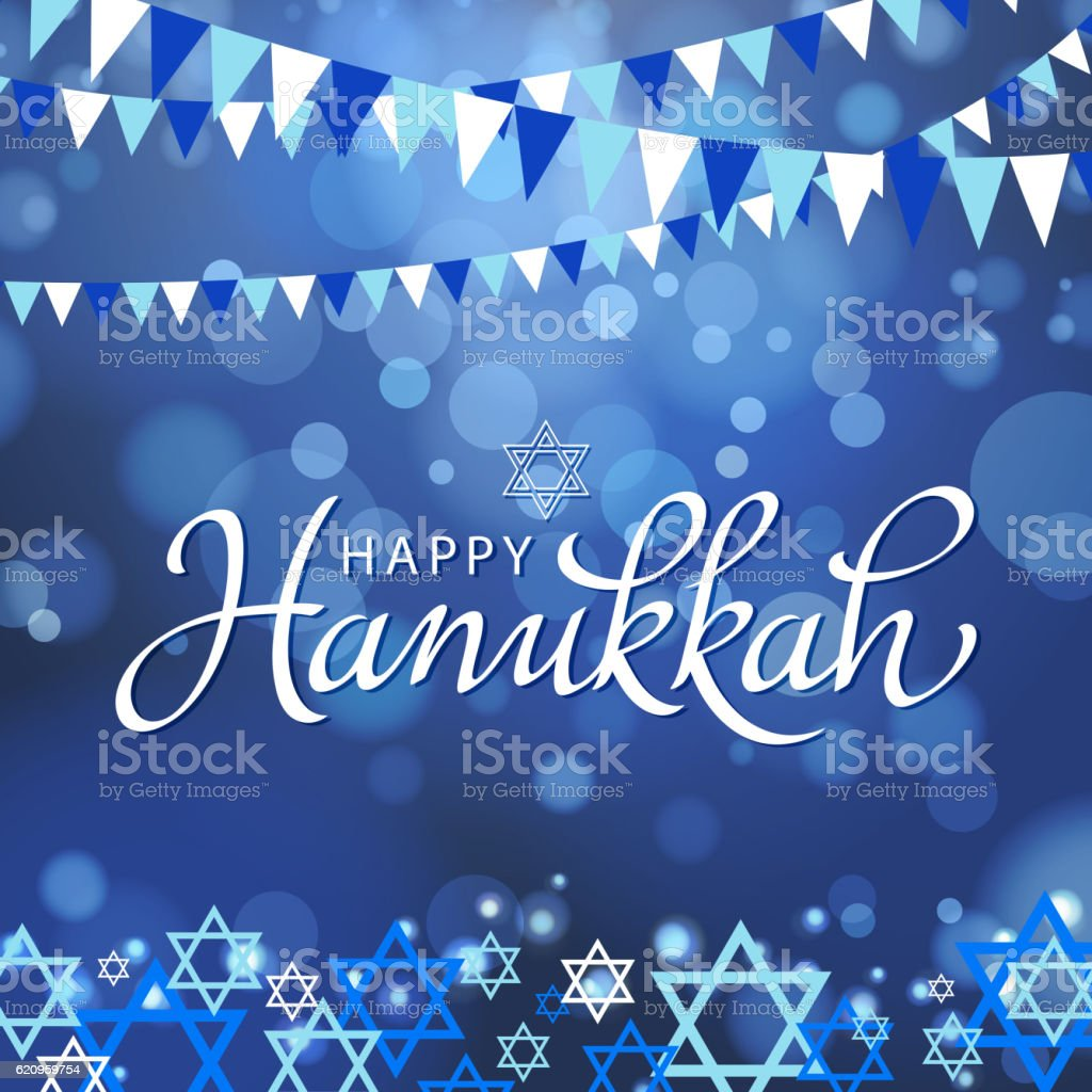 Happy Hanukkah vector art illustration